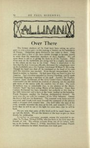 The Minerval, Vol. VII, No. 1; October 15, 1918 DePaul University Publications DePaul University Archives