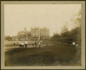 Photograph of St. Vincent's Church, ca. 1900 DePaul University Buildings Photographs Collection DePaul University Archives