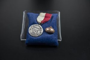 Intercollegiate Track Meet pin, 1922 DePaul University Memorabilia