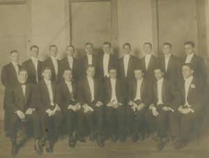 Photograph of Alpha Chi Fraternity Brothers, ca. 1910 Student Affairs Ephemera Collection DePaul University Archives