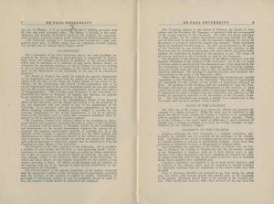 """DePaul University Bulletin,"" 1913 DePaul University Publications Collection DePaul University Archives"