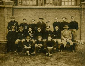 Photograph of the DePaul Varsity Football Squad, 1912 DePaul University Photographs Collection DePaul University Archives