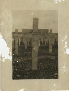 Photograph of Oliver Ward's Cross in Argonne Cemetery, ca. 1919 Vincentian Personnel Files, Ferdinand Ward DeAndreis-Rosati Memorial Archives